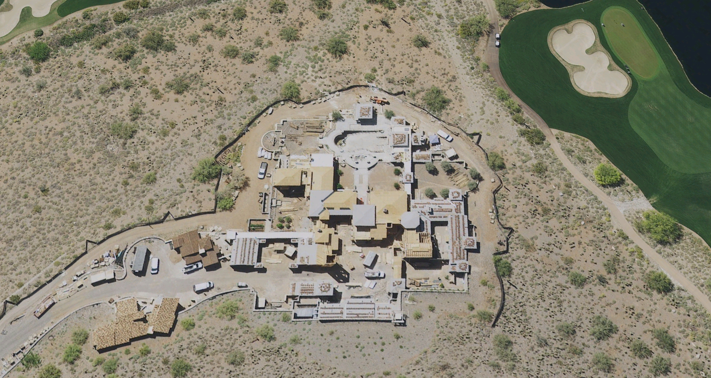 Roofing Massive Scottsdale Mansion with Redlands Clay Tile and topped with Zinc Dome