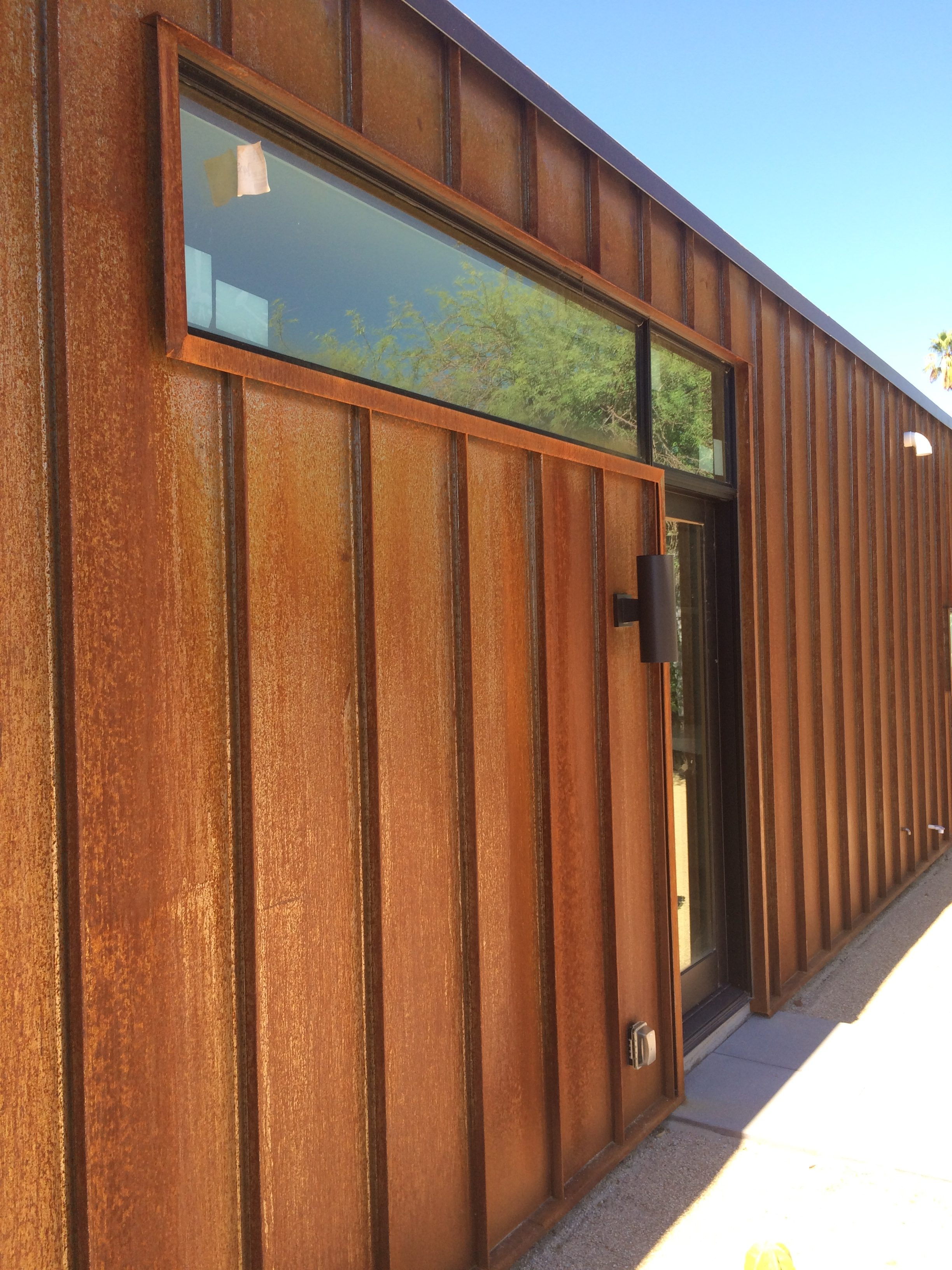 Standing Seam Rusty Metal Siding
